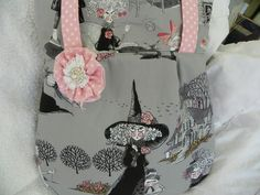 """some of my most favorite fabrics ever.  From the Alexander Henry """"Ghastlies"""" collection. Pattern is Amy Butler """"Frenchy Bag"""""""
