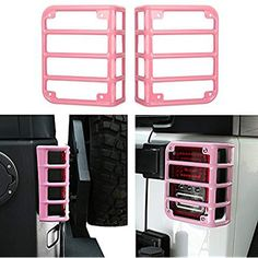 Online shopping from a great selection at Automotive Store. 2015 Jeep Wrangler, Jeep Wrangler Unlimited, Jeep Jeep, Pink Jeep, Jeep Wrangler Accessories, Jeep Mods, Chevy Girl, Black Jeep, Cute Car Accessories
