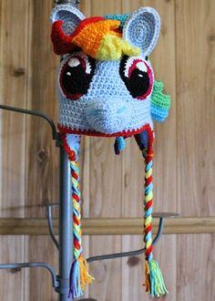 My Little Pony Rainbow Dash Crochet Hat PDF Instant Download PATTERN