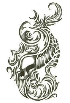 Iron Tribal Flaming Horn Skull Temporary Body Art Tattoos