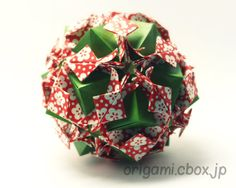Josephine by Natalia Romanenko:http://kusudama.info/2012/04/josephine-tutorial/ for folding.