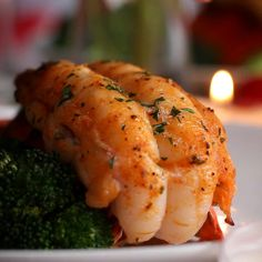 """Baked Lobster Tails Recipe by Tasty """"Lobster dinner for two"""" Healthy Recipes, Fish Recipes, Seafood Recipes, Cooking Recipes, Baked Lobster Recipes, Chicken Recipes, Healthy Food, Baked Lobster Tails, Grilled Lobster"""