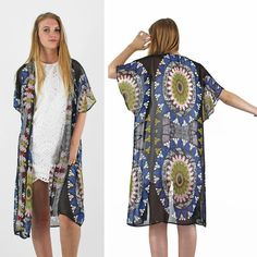 PinkCad Long Black Patterned Short Sleeve Chiffon Summer Kimono Instore And Online www.pinkcadillac.co.uk Festival Trends, Pink Cadillac, Summer Kimono, Ecommerce Solutions, Black Pattern, Long Black, Summer Looks, Patterned Shorts, Kimono Top