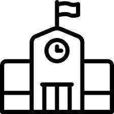 Image result for old model school building line art vector