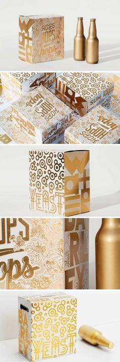 Sum of Parts - Beer (concept) packaging by Toolbox Design Juice Packaging, Beverage Packaging, Coffee Packaging, Bottle Packaging, Cosmetic Packaging, Brand Packaging, Label Design, Box Design, Package Design