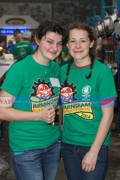 Two lovely ladies from the Bar 5 staff at Birmingham Beer and Cider Festival 2014 - why not volunteer for a future event?