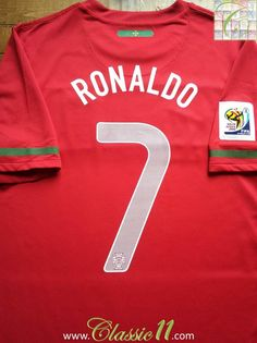 2010 11 Portugal Home World Cup Football Shirt Ronaldo Nike Portugal 0525af9ca