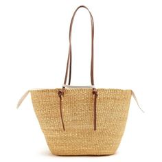 Muuñ Racco large woven-straw tote (1 030 PLN) ❤ liked on Polyvore featuring bags, handbags, tote bags, navy stripe, navy stripe tote, white tote, woven tote bags, straw tote and navy blue tote