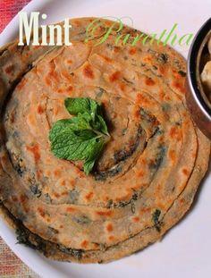 YUMMY TUMMY: Mint Paratha Recipe / Pudhina Paratha Recipe