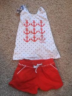 Nautica Nautical Toddler Girl Tank With Short Outfit.  SIze 4T - http://clothing.goshoppins.com/baby-toddler/nautica-nautical-toddler-girl-tank-with-short-outfit-size-4t/
