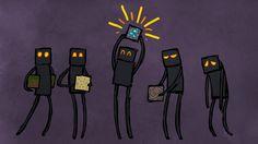 Minecraft - Endermen by *Malliya on deviantART