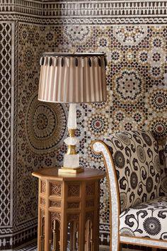 intricate tiling at Royal Mansour