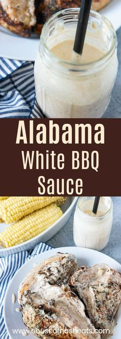 Alabama White BBQ Sauce is a tangy creamy twist on traditional barbecue sauce recipe Its delicious on grilled chicken pulled pork fish burgers and lots Barbecue Sauce Recipes, Barbeque Sauce, Grilling Recipes, Cooking Recipes, Pulled Pork Sauce Recipe, Barbecue Burgers, Keto Bbq Sauce, Bbq Sauces, Pulled Pork Finishing Sauce Recipe