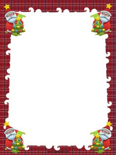 ... Christmas trees in this free, printable, winter holiday border. Free