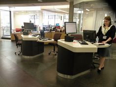 Kelvin Grove Library - reference desks | Flickr - Photo Sharing!