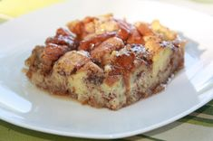 Quick & Easy French Toast Casserole ~ just made this today using Canyon Bakehouse Cinnamon Raisin bread.  Misread recipe so only used 1/2 the maple syrup called for and sprinkled turbinado sugar on top.  YUMMMY!!