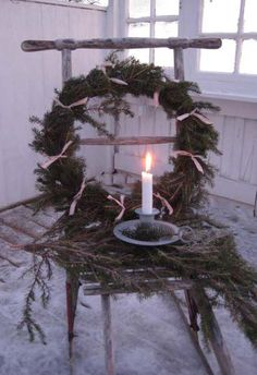 Lovely to see a #ChristmasWreath inside a home.