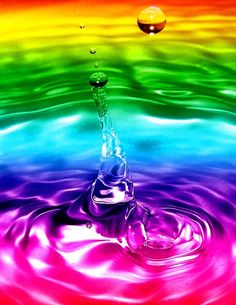 rainbow water and drop. I love rainbows. Rainbow Water, Love Rainbow, Taste The Rainbow, Over The Rainbow, Rainbow Colors, Vibrant Colors, Liquid Rainbow, Rainbow Things, Rainbow Stuff