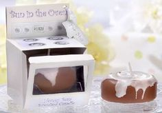 Bun in the Oven Candle (Set of 8) for baby shower favor or gift. $14.00, via Etsy.