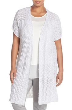 Two by Vince Camuto Open Stitch Long Cardigan (Plus Size) available at #Nordstrom