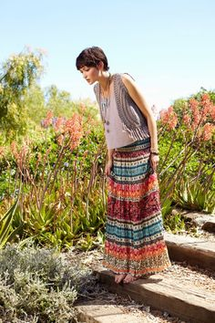 Find boho chic beach dresses and gypsy maxi dresses from brands like Billabong, Amuse Society, RVCA, O'Neill Women's, and Alana Blanchard's Rip Curl collection. Spring Summer Fashion, Summer Maxi, Style Summer, Ethnic Fashion, Bohemian Fashion, Beach Dresses, Maxi Dresses, Beachwear Fashion, Future Fashion