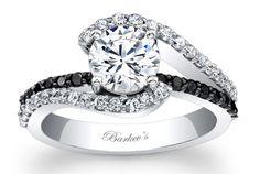 Barkev's Black Diamond Engagement Ring - 7848LBKW