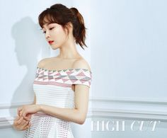 Actress Seo Hyun-jin showcased summer outfits in fashion magazine High Cut pictorials released on Thursday. In the pictures, Seo's skin looks gorgeous with red lip stick that comes in stark contrast to her bright skin tone. Seo Hyun Jin, Cut Photo, Bright Skin, Korean Actresses, Korean Actors, Beauty Inside, Kpop Girl Groups, Kpop Girls, High Cut