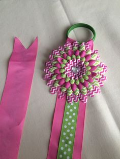 A personal favorite from my Etsy shop https://www.etsy.com/listing/231034184/pink-and-green-bow-holder