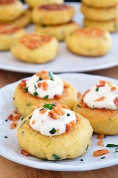 Loaded Mashed Potato Cakes    ** I had these for lunch, but I could see myself serving these as appetizers.    Ingredients:  - Instant mashed potatoes (made from 1 full packet — follow directions on the box)  ** You can obviously use leftover mashed potatoes as well. I believe 1 packet of instant flakes makes about 3-4 cups potatoes, so if you'
