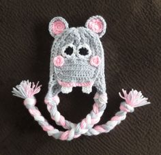 Hippo Hat  6 months to 2T Halloween New Baby Baby by simplyyarn27, $21.00