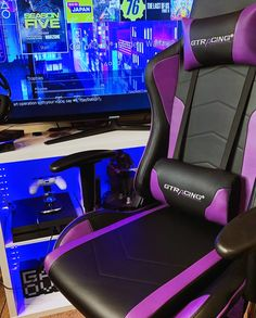 """😍Super excited about the new addition to the room! #GTRACING #gamingchair """"In love with the #purple! Perfect for #gaming. 👾"""" Sitting Positions, Super Excited, Gaming Chair, Highlight, Helpful Hints, Purple, Music, Room, Design"""