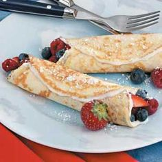 Fruit 'n' Cream Crepes Recipe