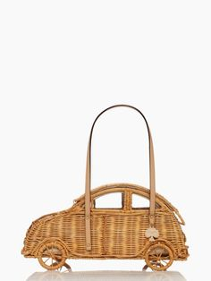 Wicker Volkswagen beetle purse