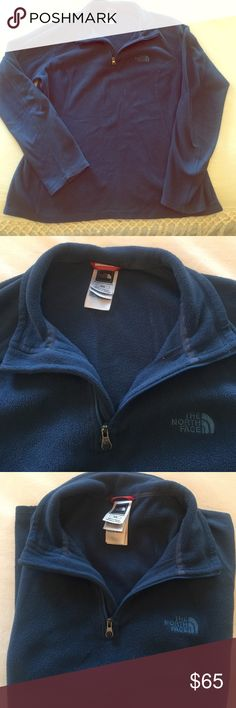 North face fleece quarter zip pullover Good condition! Pretty blue color--warm and cozy! Great for last minute Christmas shopping or to layer up this winter 😍🎅🏼🎄 The North Face Tops Sweatshirts & Hoodies