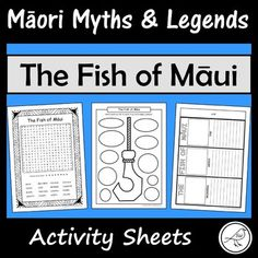 These are fun and engaging activity sheets for the story 'The Fish of Māui'. Plenty of activities to pick-and-choose from. Simply print and you're ready to go! A great addition to a unit study on Māori Myths and Legends. Most of the activity sheets can be used with any retelling of this story.