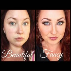 Check out one of my gorgeous Y-sisters beautiful vs fancy!! Wearing all Younique products! ♡