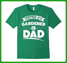 Mens Gardener Dad Shirt - Father's Day Gardener Gift XL Kelly Green - Holiday and seasonal shirts (*Amazon Partner-Link)