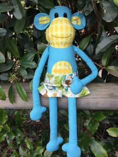 Custom Softie order I made.   Another Magoo Monkey - pattern by Melly & Me.