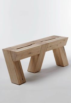 Raw Wood Table Benches Ideas For 2019 Rustic Outdoor Furniture, Timber Furniture, Woodworking Furniture, Antique Furniture, Bench Furniture, Woodworking Tips, Diy Wood Projects, Furniture Projects, Wood Crafts