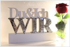 erhältlich hier: http://de.dawanda.com/shop/anavlis ,  Hochzeit, Du, Ich Wir, Dekoration, Holz, Buchstaben, Letters, Schriftzug, Wood, Valentinstag, Hochzeitsgeschenk, Handarbeit, DaWanda, Silvi K. ,