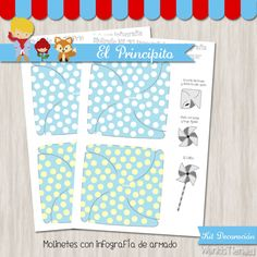 El Principito - Kit Decoracion Fiesta Imprimible Baby Shawer, Office Supplies, Kit, Texts, Paper Pinwheels, Printable Paper, Colorful Party, Printable Labels, The Little Prince