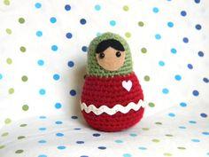 Amigurumi Russian Doll Pattern : Russian matryoshka babushka doll trio crochet pattern dolls