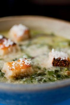 NYT Cooking: In France this simple, nutritious soup is made with wild greens that you might forage on an afternoon's walk, such as nettles, watercress and dandelion greens. If you must use one green, make it Swiss chard. The soup can be prepared through step 1 several hours before serving.