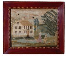 Rare Needlework Sampler, The Pope Home, Anna Pope, Spencer, Massachusetts, circa 1796 - Sothebys