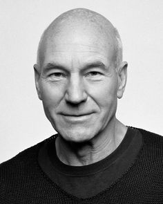 Sir Patrick Stewart. WHY HE'S AMAZING: Sir Patrick Stewart knows that he has a big presence in the world and he uses it to advocate women's rights and safety and supports treating people with Post Traumatic Stress Disorder. He is best known for his role as Captain Picard in Star Trek: The Next Generation.