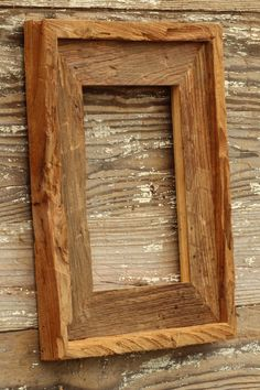 The Post & Beam Natural - Vintage Rustic Decor Reclaimed Wood Frame (All Sizes) Reclaimed Wood Frames, Rustic Frames, Barn Wood Picture Frames, Picture On Wood, Framing Canvas Art, Rustic Vintage Decor, Wood Shop Projects, A Table, Decoration