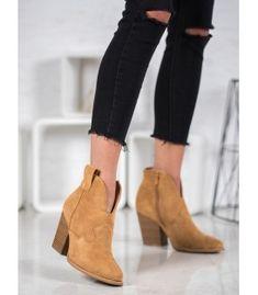 Bella Paris Suede Cowboy Boots On A Pole brown Suede Cowboy Boots, Heeled Boots, Shoe Boots, Soft Heels, Beige Heels, Winter Heels, Types Of Heels, Comfortable Shoes, Suede Leather
