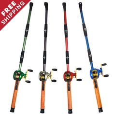 Baitcast Fishing Pole Lighter Bundle - Buy 3 Get 1 Free!