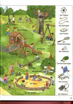 Spielplatz 2 Learn German, Learn English, Learn French, German Grammar, German Words, French Lessons, Spanish Lessons, German Language Learning, English Language