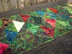 Volcano Batik Table Runner Triangles Wall by atthebrightspot, $72.00